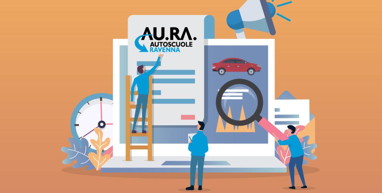 AURA autoscuole ravenna è online